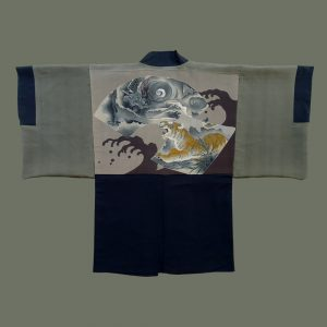 Man's Haori with Dragon & Tiger Motif