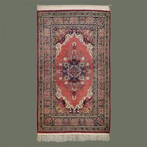 Persian Silk Rug from Qum