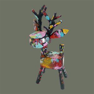 Folk Art Reindeer – Black