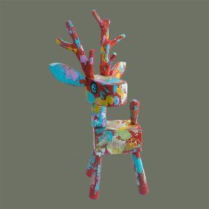 Folk Art Reindeer – Red